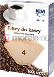 K&M Filtry do kawy rozmiar 4 80szt. (AK114)