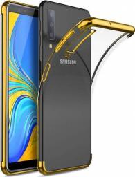 Alogy Nakładka Liquid Armor do Samsung Galaxy A7 2018 przezroczysto-złota