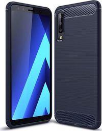 Hurtel Carbon Case elastyczne etui pokrowiec Samsung Galaxy A7 2018 A750 niebieski uniwersalny
