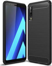 Hurtel Carbon Case elastyczne etui pokrowiec Samsung Galaxy A7 2018 A750 czarny uniwersalny