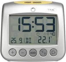 TFA 60.2514 Sonio radio controlled alarm clock with temp