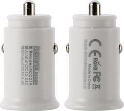 Ładowarka Remax Remax Roki Series Car Charger RCC219 mini ładowarka samochodowa 2x USB 2.4A biały uniwersalny