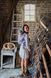 Little Frog Chusta żakardowa Beloved Linen & Silk Flourish 5,2 m
