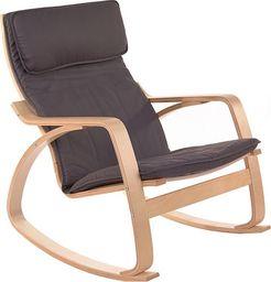 IMAGGIO Fotel bujany COMODO z jasnymi płozami, kolor grafitowy universal