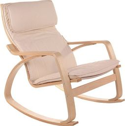 IMAGGIO Fotel bujany COMODO z jasnymi płozami, kolor beżowy universal