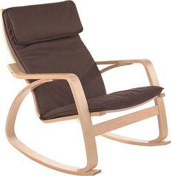 IMAGGIO Fotel bujany COMODO z jasnymi płozami, kolor brązowy universal