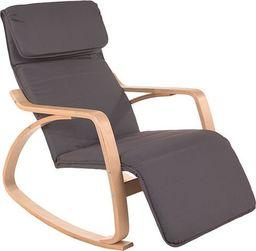 IMAGGIO Fotel bujany LUSSO z podnóżkiem, kolory grafitowy universal