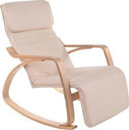 IMAGGIO Fotel bujany LUSSO z podnóżkiem, kolory beżowy universal
