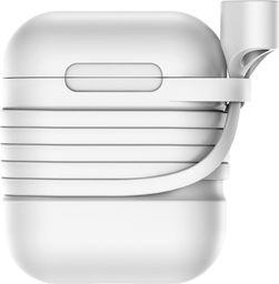 Baseus Baseus AirPods Case silikonowe etui pudełeczko na słuchawki + magnetyczny pasek Apple AirPods szary (TZARGS-G2) uniwersalny