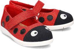 EMU Australia Emu Australia Ladybug Ballet - Baleriny Dziecięce - K11613 RED/ROUGE 24