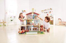 Hape Duży Drewniany domek dla lalek z wyposażeniem