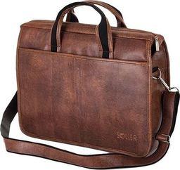Torba Solier Brązowa męska torba na ramię, laptopa SOLIER LUCAS one size