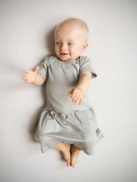 Nanaf Organic Sukienka z krótkim rękawem BAMBOO GRAY 62