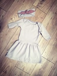 Nanaf Organic Sukienka Szara myszka 74