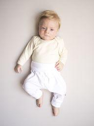 Nanaf Organic Spodnie pumpy białe 74