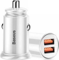 Ładowarka Baseus Ładowarka samochodowa Baseus Dual Quick QC 3.0 2x USB 30W white uniwersalny