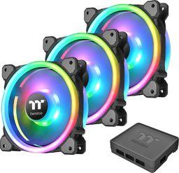 Thermaltake Riing Trio 12 LED RGB Plus 3-pack + Hub (CL-F072-PL12SW-A)