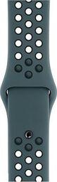 Apple Pasek sportowy Nike w kolorze ciemnego turkusu/czarnym do koperty 40 mm - S/M i M/L-MTMU2ZM/A