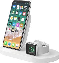 Ładowarka Belkin Stacja dokująca Wireless iPhone+Watch+USB-A biała- (F8J235VFWHT)