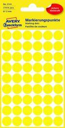 Avery Zweckform Kółka do zaznaczania, średnica 12mm, 270 sztuk, żółte -3144