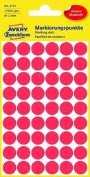 Avery Zweckform Kółka do zaznaczania, średnica 12mm, 270 sztuk, czerwone -3141