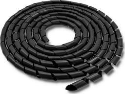 Organizer Qoltec Organizer do kabli 6mm, 10m, czarny -52250