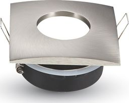 V-TAC Oprawa LED VT-787SQ-SN GU10  aluminium, satynowy nikiel, kwadratowa-SKU3616