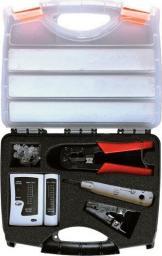 Alantec Zestaw narzędzi instalatorskich w walizce (tester, nóż LSA, zaciskarka, stripper, wtyki RJ45) -NI038