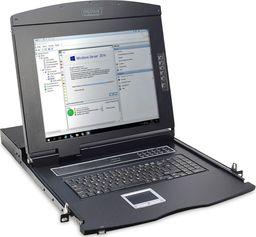 """Konsola KVM Digitus Konsola 19"""" LCD z touchpad KVM 16 portów 1U komplet kabli (16xDS-19231) klawiatu"""