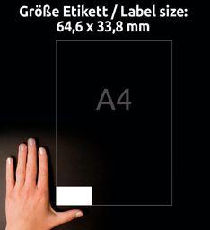 Avery Zweckform Etykiety uniwersalne ogólnego zastosowania, 54,6 x 33,8mm, białe, do drukarki, 240 sztuk -3658-10