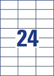 Avery Zweckform Etykiety uniwersalne ogólnego zastosowania, 70 x 37mm, białe, do drukarki, 240 sztuk -3474-10