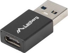 Adapter USB Lanberg USB A - USB C Czarny (AD-UC-UA-01)