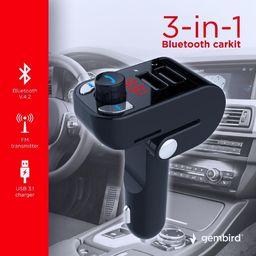Odtwarzacz MP3 Gembird Gembird 3w1 transmiter FM / zestaw głośnomówiący Bluetooth / ładowarka USB 3.1A