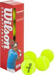Wilson Piłki tenis ziemny Wilson Champ Press 4 sztuki 132400 uniwersalny