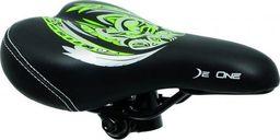 DeOne Siodło rower De One KIDY czarno-zielone SE-DE012 uniwersalny