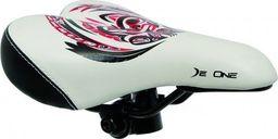 DeOne Siodło rower De One KIDY biało-czerwone SE-DE013 uniwersalny
