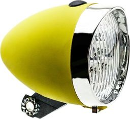 APG Lampa przednia Retro 3 diody LED ,160302 zasilane 3x AAA żółta uniwersalny