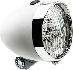 APG Lampa przednia Retro 3 diody LED ,160302 zasilane 3x AAA biała uniwersalny