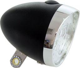 XC Light Lampa przednia XC Light Retro - 764B, 3 diody LED, zasilane 3x AAA, czarna uniwersalny