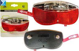 XC Light Lampa tylna na bagażnik XC Light - 986A 2 diody LED, na baterie uniwersalny