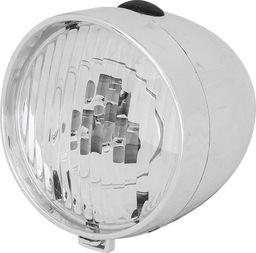 XC Light Lampa przednia XC Light -764B Retro 3 diody LED, zasilane 3x AAA, srebrna uniwersalny