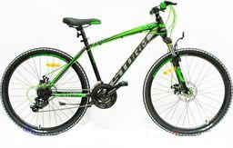 """Storm Rower górski MTB 26"""" Rapid 2x Disc czarno-zielony 17"""""""