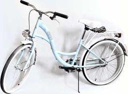 """BikeLand Rower miejski Vintage 24"""" Lux niebieski uniwersalny"""