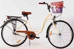 """Storm Rower miejski 26"""" Amsterdam 1-biegowy kremowy uniwersalny"""