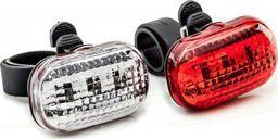 XC Light Zestaw lamp przód XC LIGHT 8003 3-diody,3-funkcje + tył 3-diody,3-funkcje