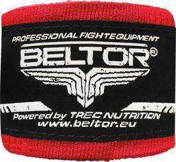Beltor Beltor bandaż bokserski bawełniany czerwony 4m