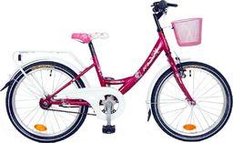 """Bingo Rower dla dzieci 20"""" Angela torpedo czerwono-biały uniwersalny"""
