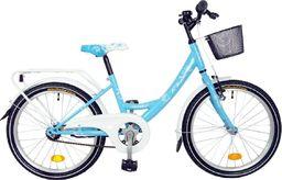 """Bingo Rower dla dzieci Angela 20"""" 6-bieg błękitno-biały  uniwersalny"""