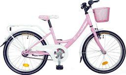 """Bingo Rower dla dzieci 20"""" Angela torpedo różowo-biały  uniwersalny"""
