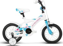"""Kross Rower dla dzieci Cindy 12"""" biały-błękitny-różowy połysk 2017 uniwersalny"""